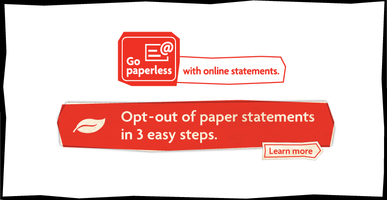 Go paperless with online statements