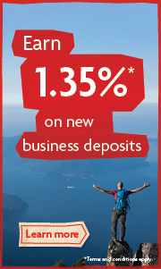 Earn 1.35% on new business deposits