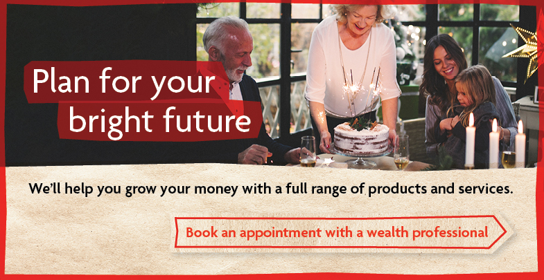 We'll help you grow your money with a full range of products and service