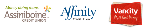 Affinity Credit Union, Assiniboine Credit Union and Vancity