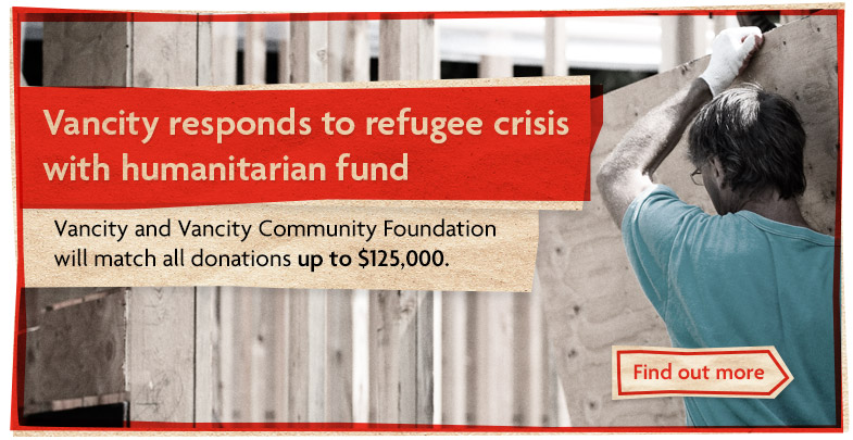 Vancity responds to refugee crisis with humanitarian fund