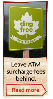 Ding free: Any credit union ATM is your credit union ATM.