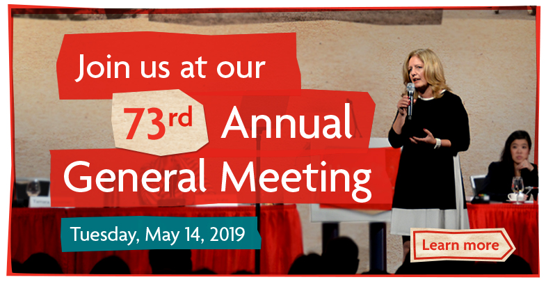 Join us at our 73rd Annual General Meeting