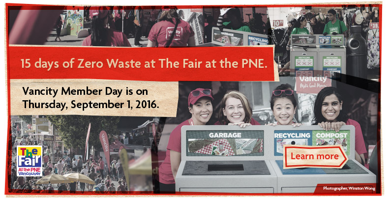 15 days of Zero Waste at The Fair at the PNE